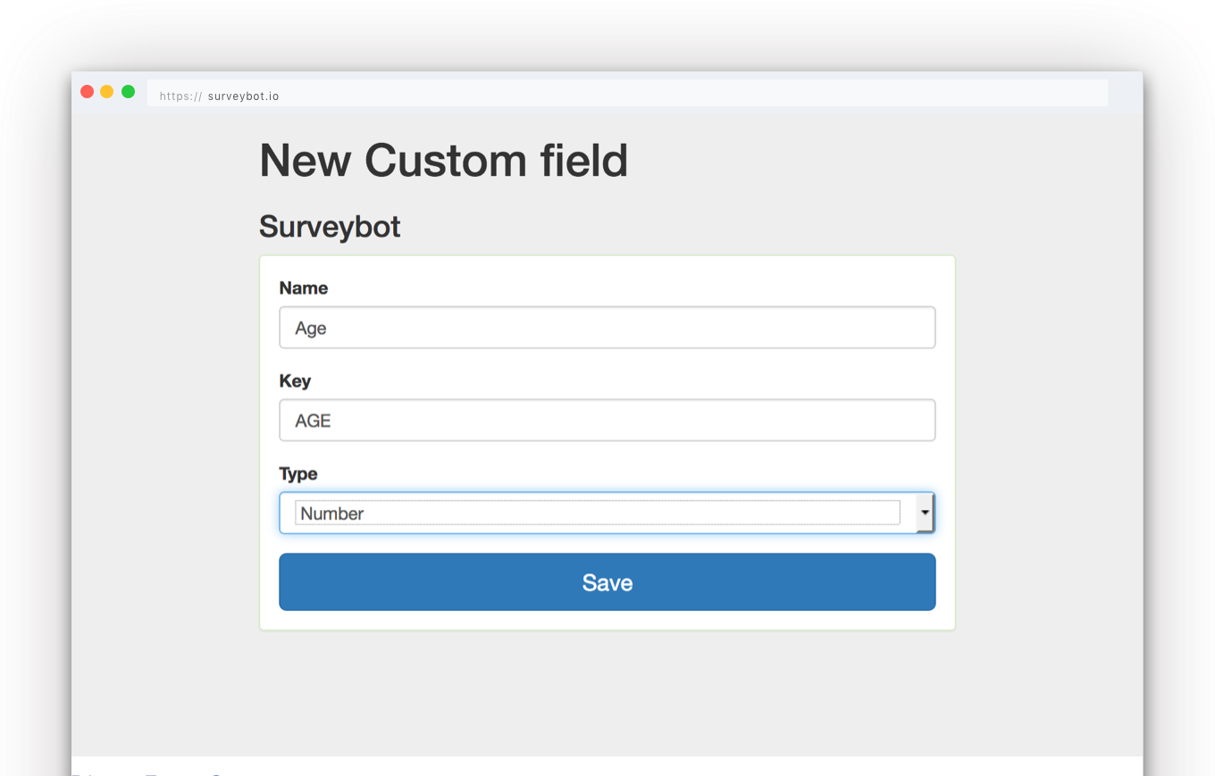 Panel custom fields