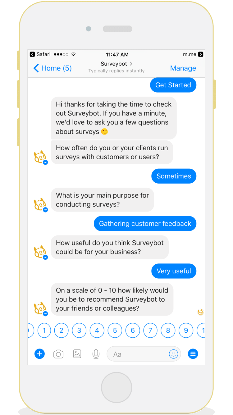 Surveybot pricing